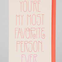 Anemone Letterpress Favorite Person Ever Card - Urban Outfitters