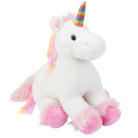 Toys R Us Plush 18 inch Rainbow Unicorn - White
