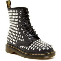 Dr. Martens Spike Smooth Calf Leather Ankle Boots