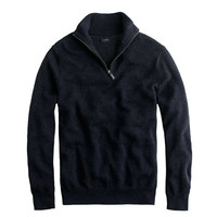 J.Crew Mens Tall Cotton-Cashmere Half-Zip Sweater