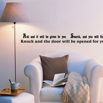 Wall Decal Inspirational Words of Wisdom Office Mirror Vinyl Sticker (ed979) (22.5 in X 2.5 in)