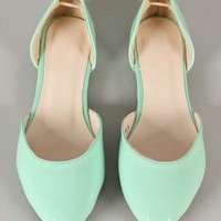 Tory-03 Patent Pointy Toe Flat