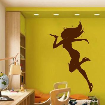 ik2257 Wall Decal Sticker cartoon killer girl beautiful living room bedroom