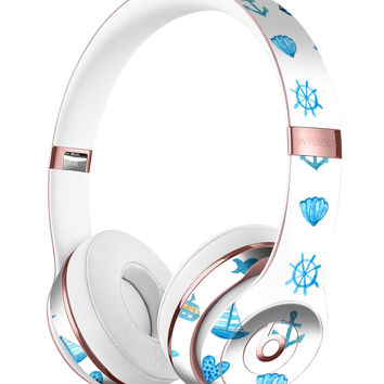 Nautical Watercolor Pattern Full-Body Skin Kit for the Beats by Dre Solo 3 Wireless Headphones
