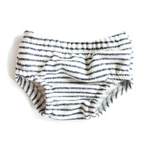 French Terry Baby Bloomers in Navy Stripe