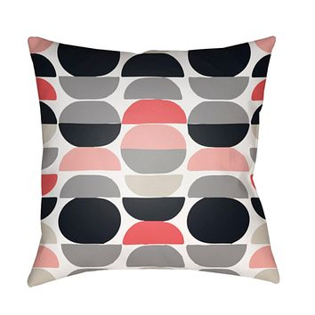 Moderne Pillow Cover - Medium Gray, White, Bright Pink, Pale Pink, Navy - MD080