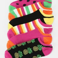 Fruit No Show Sock-Pack of 6