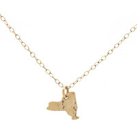 Tiny New York State Necklace