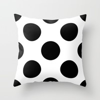#6 Circles Throw Pillow by Minimalist Forms