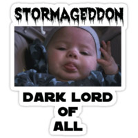 Stormageddon Dark Lord Of All Black Text