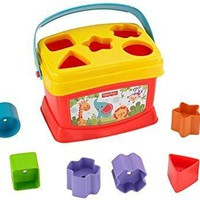 Basics Baby's First Blocks Fisher-Price Brilliant Carry handle 10 colorful blocks