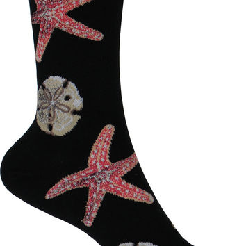 Starfish Crew Socks in Black