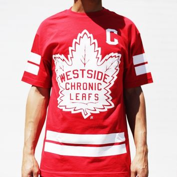 CHRONIC LEAFS TEE – RED/WHITE
