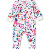 Joules Baby Girls Newborn-12 Months Floral-Print Footed Coverall | Dillards
