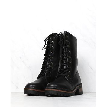 Military Combat Boots in Black