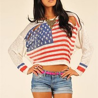 Cross Flag Sweater - Ivory
