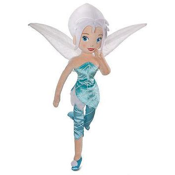 "Licensed cool NEW Disney Store Fairies TINKER BELL SISTER 18"" PERIWINKLE Soft Plush Rag doll"
