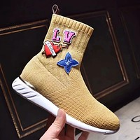 Louis Vuitton Women Fashion Casual Socks Shoes