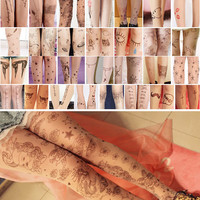 New Fashion Tattoo Patterned Stockings Transparent Tights Sexy Seamless Pantyhose Nylon Women Hot Stockings