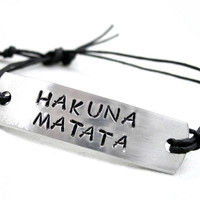 Hakuna Matata ID Style Bracelet on Cotton Cord - Inspired by Lion King