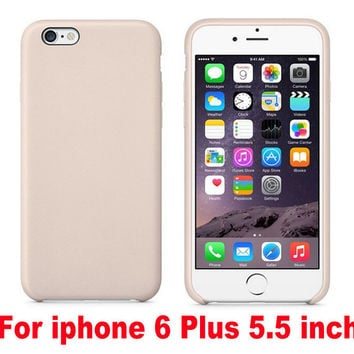 Luxury Ultra-thin With LOGO PU Leather Case cover for iPhone 6 4.7 / 5.5 case Original Copy Back Cover Official Style