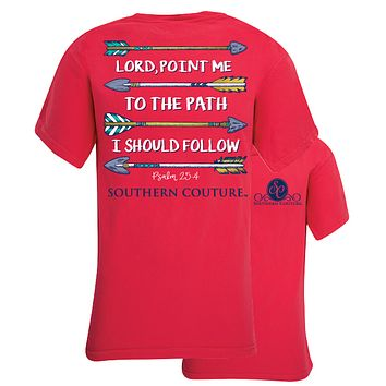 Southern Couture Lord Point Me Arrows Comfort Colors T-Shirt