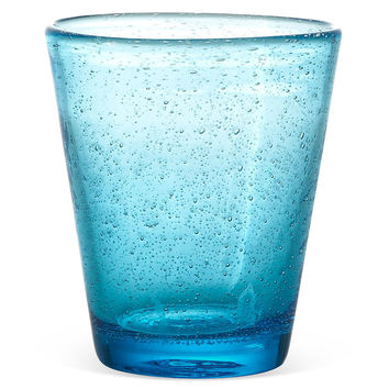 Bubble Water Glasses, Sea Blue, Set of 4, Tumblers, Water & Juice