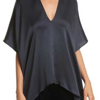 Nili Lotan Citrine Hammered Silk Top | Nordstrom
