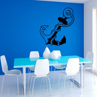 Anchor Nautical Wall Vinyl Decal Sticker Wall Decor Home Interior Design Art Mural Z409