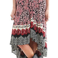 Midi Skirt with Irregular Hem