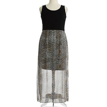 Vince Camuto Plus Plus Leopard Print Maxi Dress