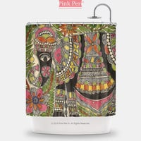 Madhubani Indian Tribal Folk Art Shower Curtain Home & Living Bathroom 139