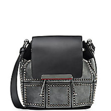 Christian Louboutin - Lucky L Studded Suede & Leather Bucket Bag - Saks Fifth Avenue Mobile