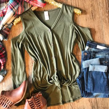 Say It Simply Top - Olive