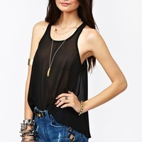 Chiffon Tail Tank - Black in  What's New at Nasty Gal