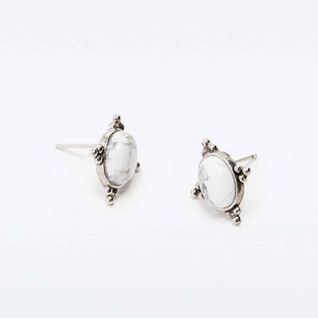 Stone Stud Earrings - Urban Outfitters