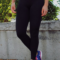 Work It Out Yoga Leggings - Purple