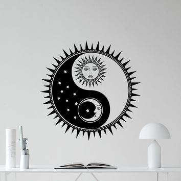 Sun And Moon Yin Yang Wall Decal