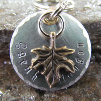 Pet Tags - Pet ID Tag - Dog Collar Tag with Leaf, Flower or Tree of Life Charm, Personalized