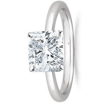 .1/2 - 2 Carat GIA Certified 14K White Gold Solitaire Cushion Cut Diamond Engagement Ring (I-J Color, VS1-VS2 Clarity)