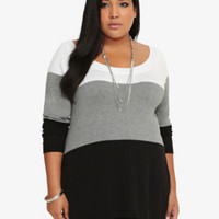 Colorblock Striped Tunic