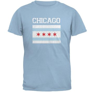 City Distressed Flag Chicago Mens T Shirt