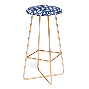 Heather Dutton Starbust Navy Bar Stool