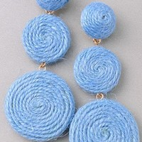 Spiral Drop Earrings in Lt. Blue