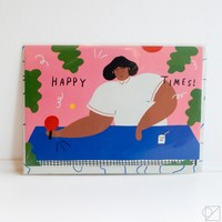 Happy Times Ping Pong Greeting Card