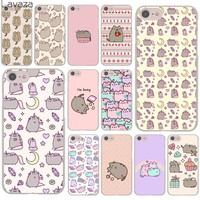 Lavaza cute lovely pusheen cat Hard Cover Case for Apple iPhone 8 7 6 6S Plus 5 5S SE 5C 4 4S X 10 Coque Shell