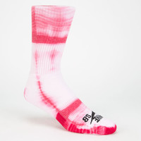 Nike Sb Tie Dye Mens Dri-Fit Crew Socks Red Combo One Size For Men 25413634901