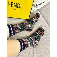 Fendi Graffiti printed cotton socks
