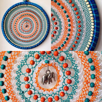 Indian Summer Turquoise & Orange Elephant Mandala