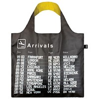 AIRPORT Arrivals Tote Bag with Flight Design in Black